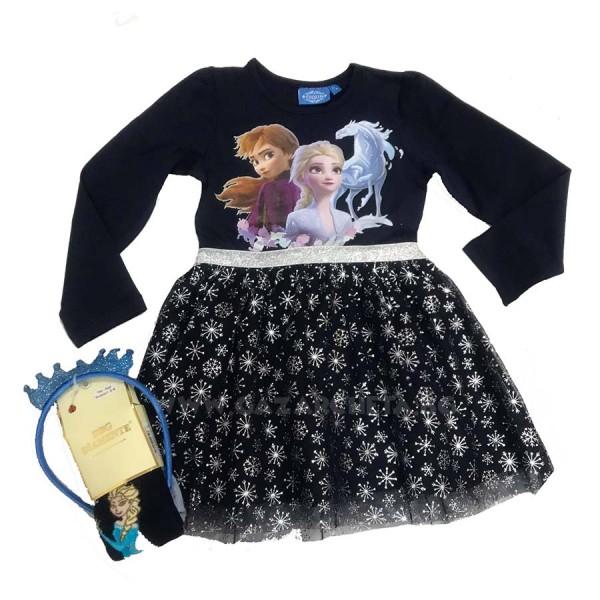 Детска рокля Frozen-тъмно синя