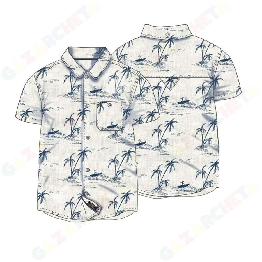 Детска риза Палми Minoti с лен