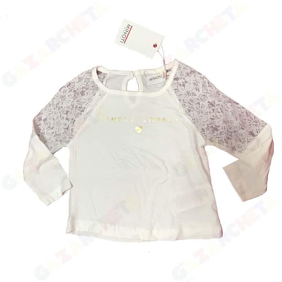 Детска блуза Minoti с дантелени ръкави