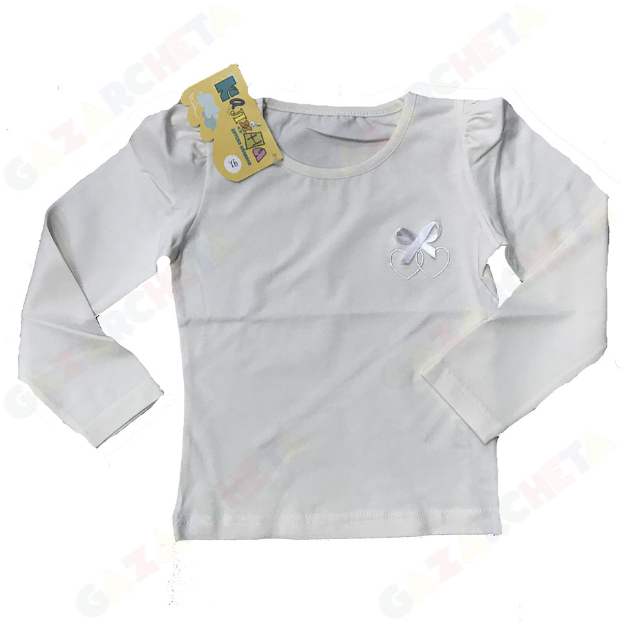 Детска блуза Панделка-екрю