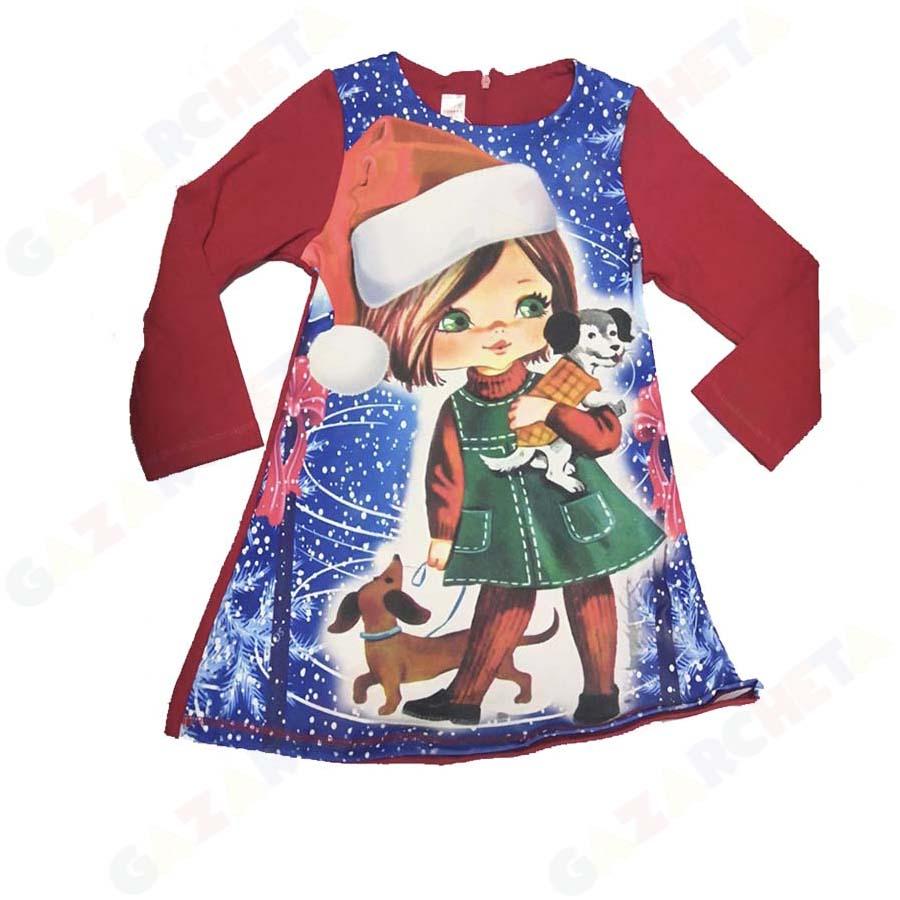 Детска рокля Коледно Момиче