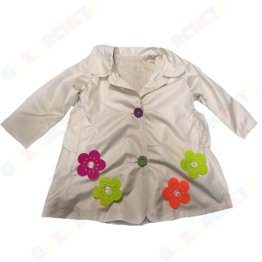 Детски шлифер цветя