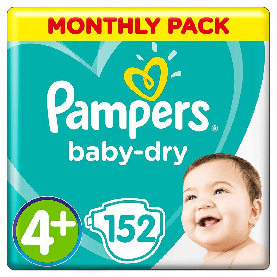 Pampers Baby Dry 4+, 152 броя