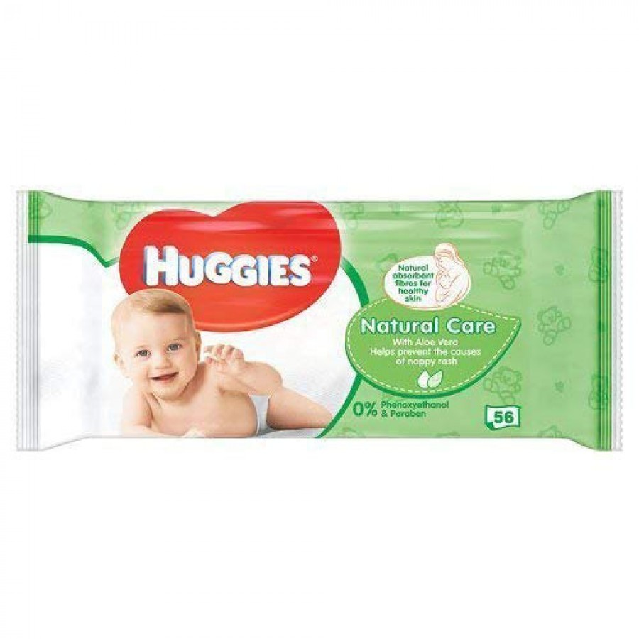 Мокри кърпички Huggies Natural Care Aloe Vera