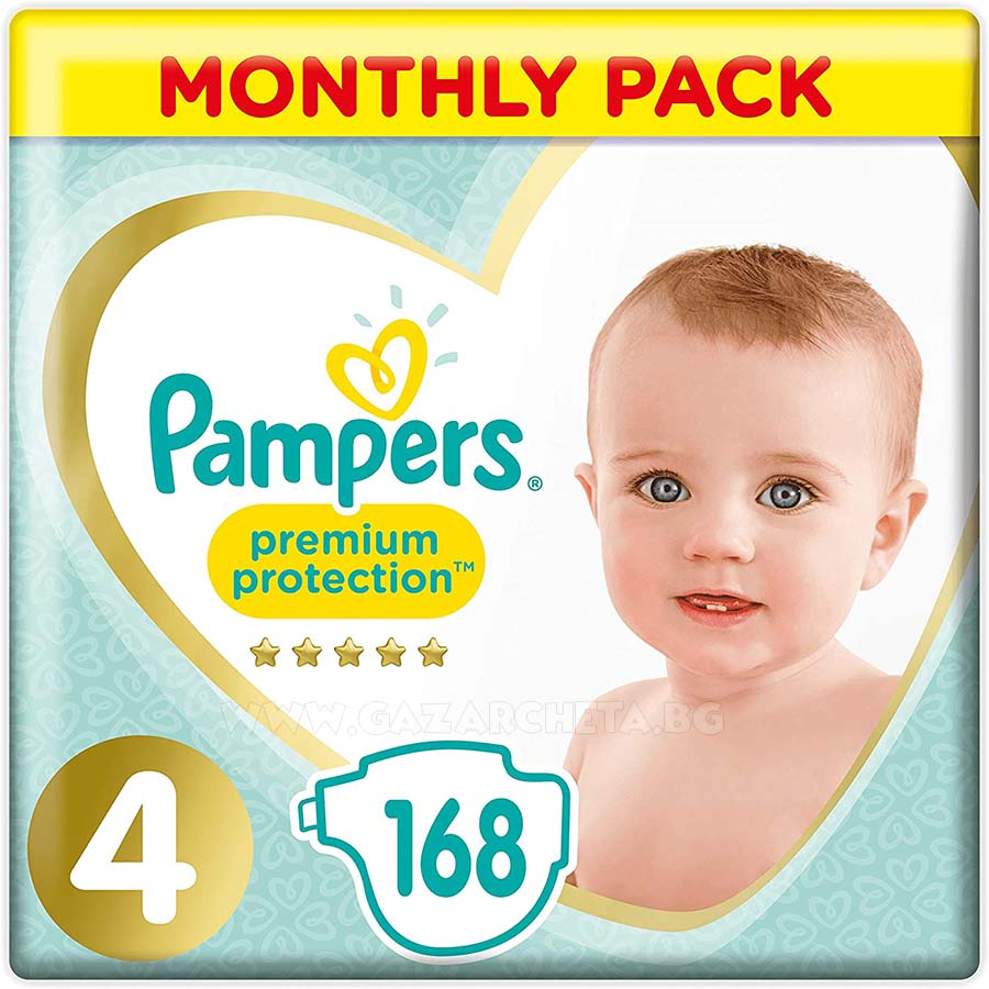 Pampers Premium Protection 4, 168 броя