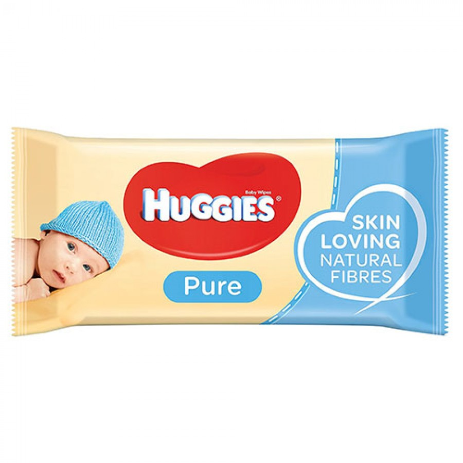 Мокри кърпички Huggies Pure 99% вода