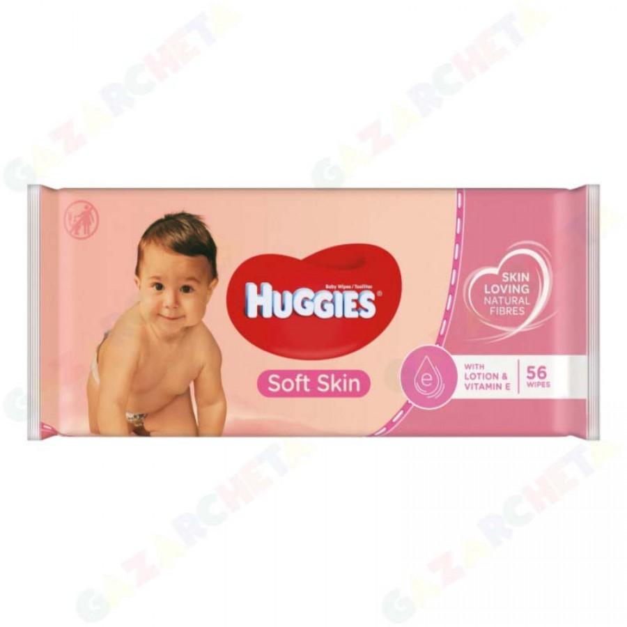 Мокри кърпички Huggies Lotion & Vitamin E