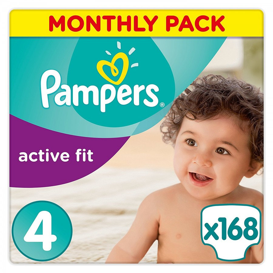 Pampers Activ Fit 4, 168 броя
